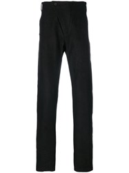 Lost And Found Ria Dunn Classic Tailored Trousers Men Cotton Ramie Spandex Elastane S Black