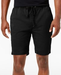 American Rag Men's Classic Fit Stretch Solid Drawstring Shorts Only At Macy's Deep Black