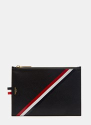 Thom Browne Diagonal Taped Stripe Coin Purse Black