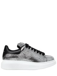 Alexander Mcqueen 40Mm Crackled Leather Sneakers