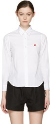 Comme Des Garcons Play White Small Heart Shirt