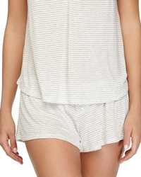 Eberjey Love Letters Striped Lounge Shorts Marble