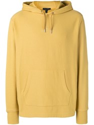 Belstaff Logo Embroidered Hoodie Yellow