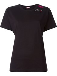 Giamba Lips Patch T Shirt Black