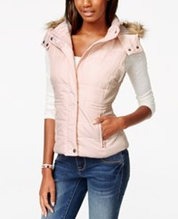 American Rag Faux Fur Trim Puffer Vest Only At Macy's Blush