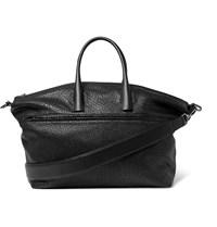 Solid Homme Grained Leather Tote Bag Black