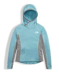 The North Face Girls' Long Sleeve Reactor Hoodie Light Blue