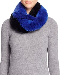 Surell Two Tone Rabbit Fur Infinity Scarf 100 Bloomingdale's Exclusive Blue Black