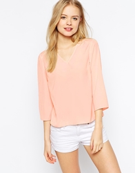 Vero Moda V Neck Shell Top Peach