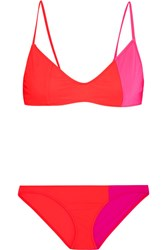 Araks Elsa And Enel Color Block Triangle Bikini Crimson