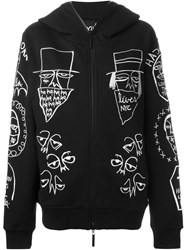 Haculla Embroidered Zipped Hoodie Black