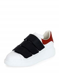 Alexander Mcqueen Colorblock Leather Low Top Sneakers White