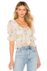 For Love And Lemons Paradis Blouse Pink