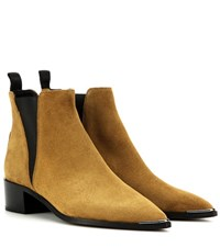 Acne Studios Jensen Suede Ankle Boots Green