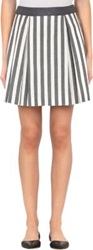 Barneys New York Inverted Pleat Cleo Skirt Black