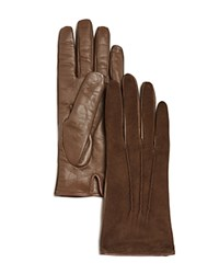 Bloomingdale's Suede Tech Gloves Taupe