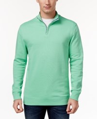 Club Room Men's Quarter Zip Sweatshirt Only At Macy's Neptune Beso