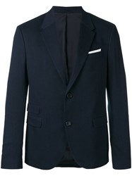 Neil Barrett Denim Blazer Blue