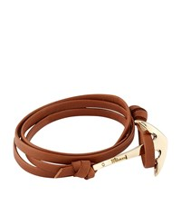 Miansai Leather Wrap Anchor Bracelet Unisex Tan