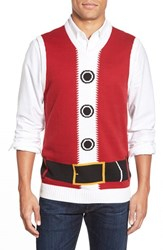 Men's Ugly Christmas Sweater 'Santa' V Neck Sweater Vest