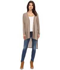 Culture Phit Alycia V Neck Button Down Sweater Taupe Women's Sweater