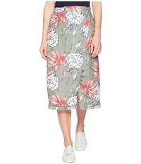 Roxy Endless Valley Olive House Of The Sun Skirt Multi