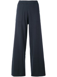 Humanoid Flared Trousers Blue