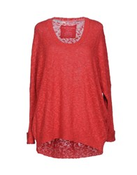 Fine Collection Sweaters Red