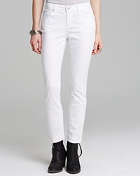 Eileen Fisher Petites Skinny Ankle Jeans White
