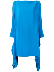 Gianluca Capannolo Long Sleeve Flared Dress Blue