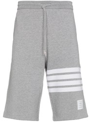 Thom Browne Engineered 4 Bar Stripe Shorts Grey