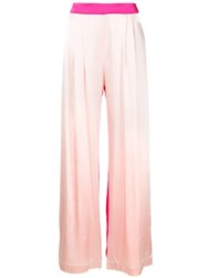 Michael Lo Sordo High Waisted Wide Leg Trousers Pink