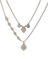 Dkny Gold Tone Sculptural Double Row Pendant Necklace 16 3 Extender Created For Macy's