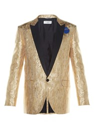 Saint Laurent Metallic Jacquard Single Breasted Blazer
