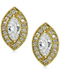 Giani Bernini 18K Gold Plated Sterling Silver Cubic Zirconia Stud Earrings Only At Macy's