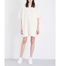Ashley Rowe Short Sleeved Denim Dress Cream