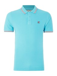 Fila Matcho Regular Fit Short Sleeve Tipped Logo Polo Blue