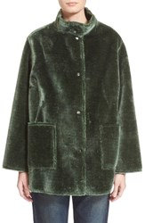 Women's Opening Ceremony 'Culver' Reversible Faux Fur Coat
