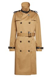 The Kooples Cotton Trench Coat Camel