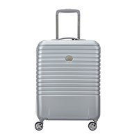 Delsey Caumartin 4 Wheel Slim Trolley Case 55Cm Silver Ice Blue