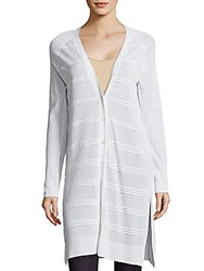 Leo And Sage Ottoman Striped Duster White