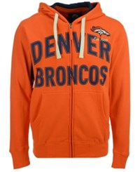 G3 Sports Men's Denver Broncos Hands High Playoff Full Zip Hoodie Navy Orange