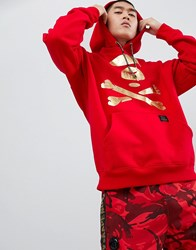 Aape By A Bathing Ape Hoodie With Back Taping In Red