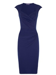 Hotsquash Short Sleeved Dress In Clever Fabric Navy