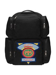 Gucci Large Backpack With '80S Patch Black