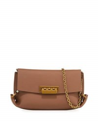 Zac Posen Eartha Gusset Crossbody Bag Tan