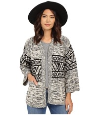 Obey Nina Cardigan Cream Multi Women's Sweater