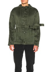 Craig Green Silk Hood Jacket In Green