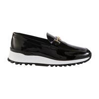 Tod's X Alber Elbaz Patent Leather Loafers Black