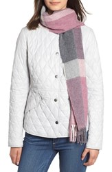 Barbour Hamble Check Scarf Lilac Grey
